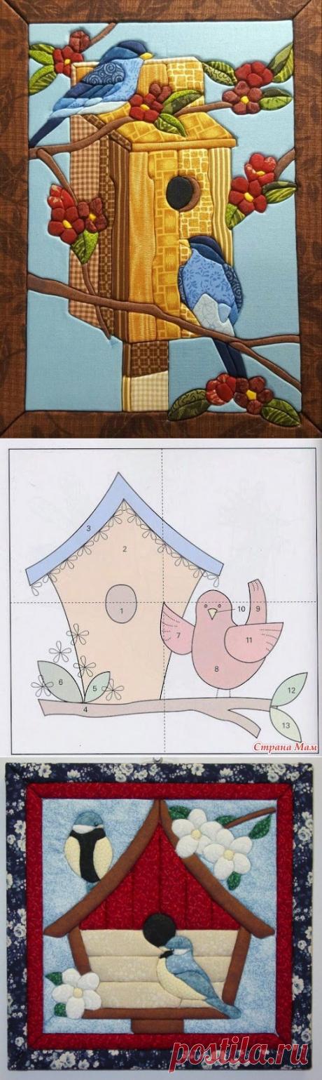 Большая подборка схем для панно в технике кинусайга: скворечники