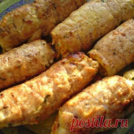 Рулетики «Боярские» из куриной грудки: готовятся быстро, а выглядят очень презентабельно!chicken rolls