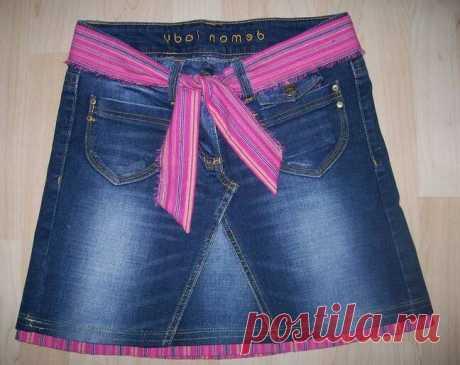 6 идей как сшить классную юбку из старых джинсов легко и просто.   Провинциалка в теме   Яндекс Дзен