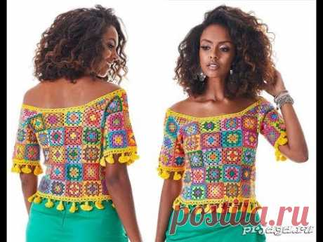 To connect the Summer Jacket by the Hook - video model 2018 \/ Link Summer Blouse Crochetie video