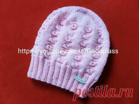 Openwork, beautiful children's cap. Knitting by spokes. Part 1 Knitting (Hobby).