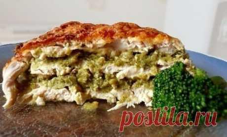 Пирог из курицы и брокколи — Мегаздоров