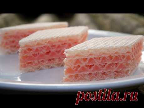 Вафельный торт без выпечки за 5 минут рецепт! Самый вкусный крем для торта!