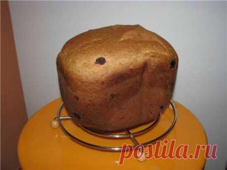 Кофейный хлеб к чаю (хлебопечка) Заложите ингредиенты (кроме изюма) в порядке, рекомендованном производителем хлебопечки. Режим: быстрый хлеб, корочка – средняя. Изюм добавить по сигналу, предварительно обваляв его в муке. ПримечаниеИспекла новый хлебушек из инструкции к LG и спешу поделиться со всеми. Вкусный и сладенький. Имеет в