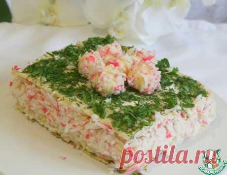 """Торт закусочный """"Крабовый рай"""" – кулинарный рецепт"""