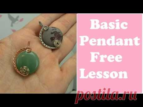 Basic Wire Wrapped Pendant for Beginners (Tutorial, Demo) - YouTube