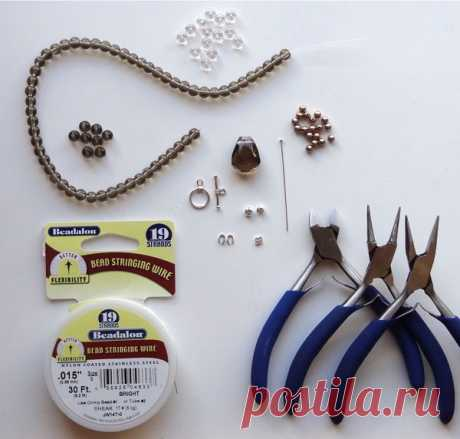 Нежное ожерелье-кулон - Все о рукоделии. Техники, уроки, история, видео.
