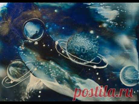 Encausticmalerei Galaxie