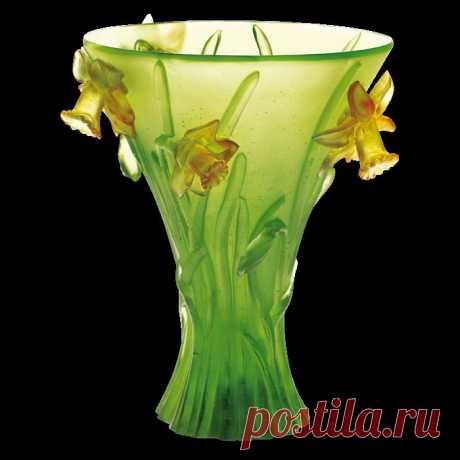 La colección de los floreros-paraísos de cristal.