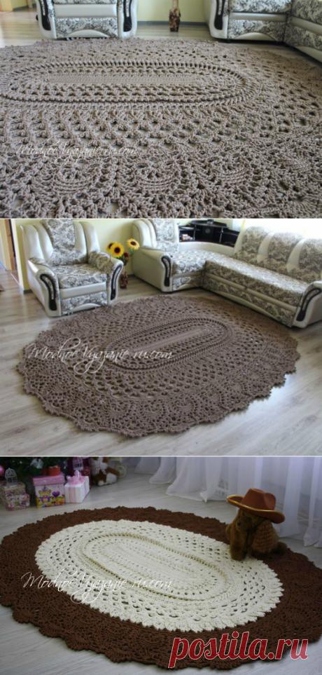 Овальный коврик *Майское чудо* крючком - Crochet Modnoe Vyazanie