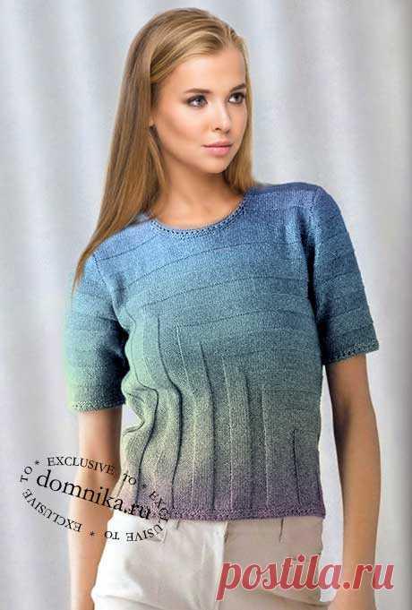 Простой узора для кофточки - схемы вязания спицами для женщин