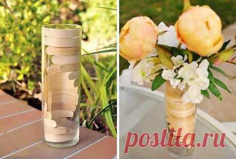 Оформление вазы палочками от мороженого / Цветы / ВТОРАЯ УЛИЦА