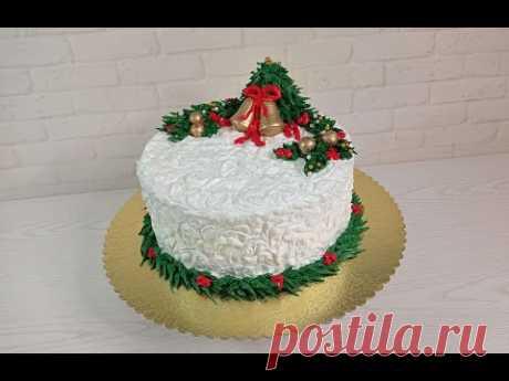 эксклюзивная техника ЗАВИТОК от канала ТОРТЫ и КУЛИНАРИЯ для белково-заварного крема. CHRISTMAS CAKE