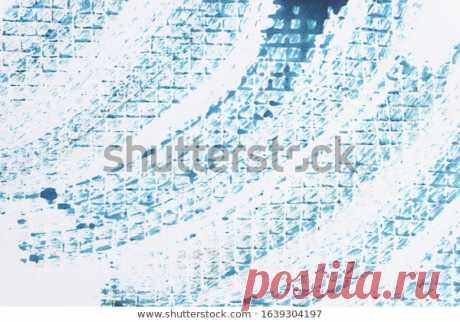 Синие Акварельные Мазки Кисти Фон Гранж Фондовая Иллюстрация 1639304197