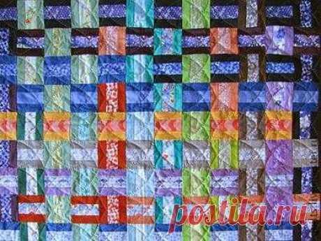 Лоскутное шитье из полосок ткани. Рукоделие пэчворк — шитье из цветных лоскутков ткани