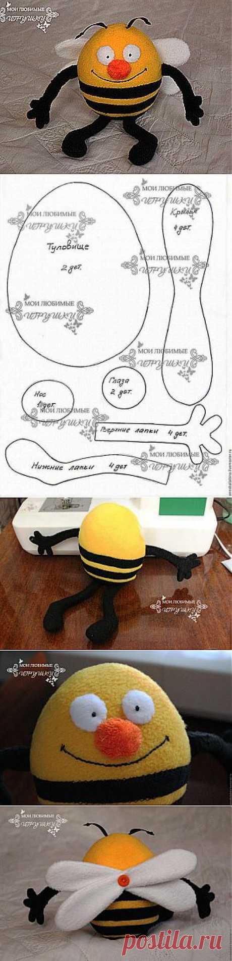 Весенний Пчёл - текстильная игрушка - Ярмарка Мастеров - ручная работа, handmade