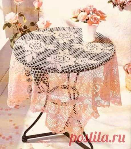 Подборка филейных скатертей и салфеток со схемами вязания. (20+) Facebook