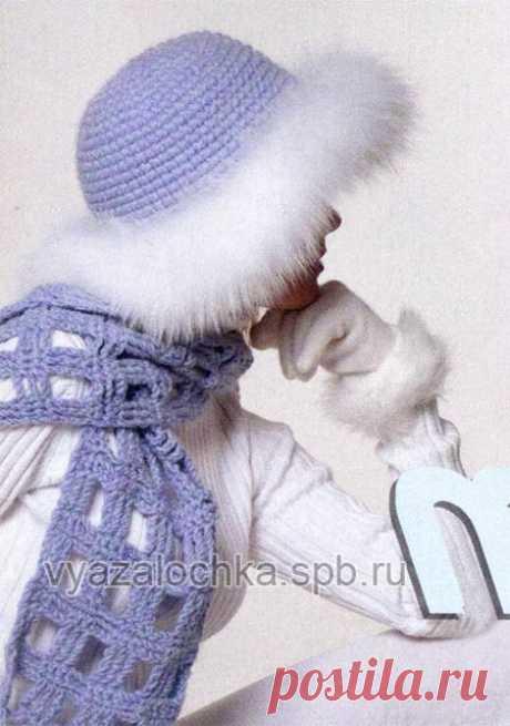 Зимняя шапка крючком с мехом и шарф «шахматка» | ЕЛЕНА ВЯЗАЛОЧКА — Вязание Спицами и Крючком | Лучшие Схемы и Модели Бесплатно