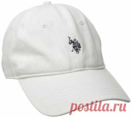 U.S. Polo Assn. Men's Small Solid Horse Adjustable Cap, White, One Size at Amazon Men's Clothing store: