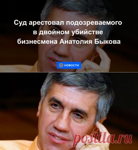 Суд арестовал подозреваемого в двойном убийстве бизнесмена Анатолия Быкова - Новости Mail.ru
