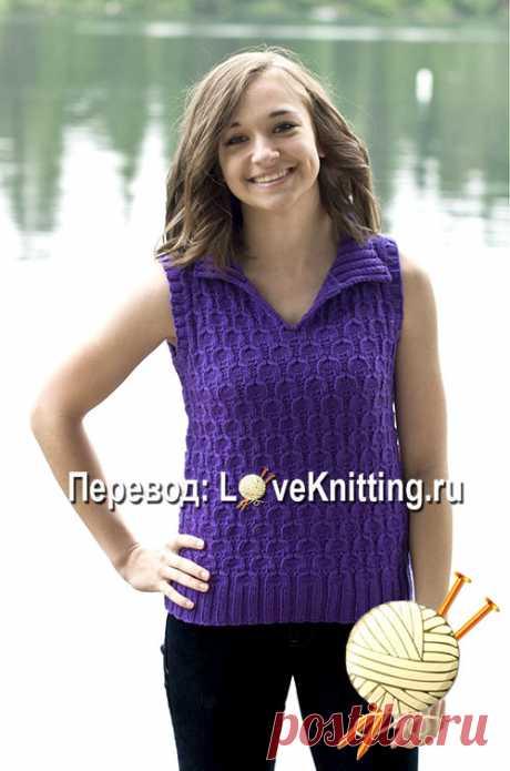 Пуловер без рукавов   Loveknitting.ru