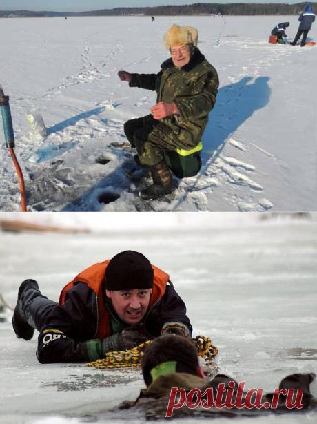 Почему пенсионерам не место на льду? Мнение сотрудника МЧС | Охота и Рыбалка | Яндекс Дзен