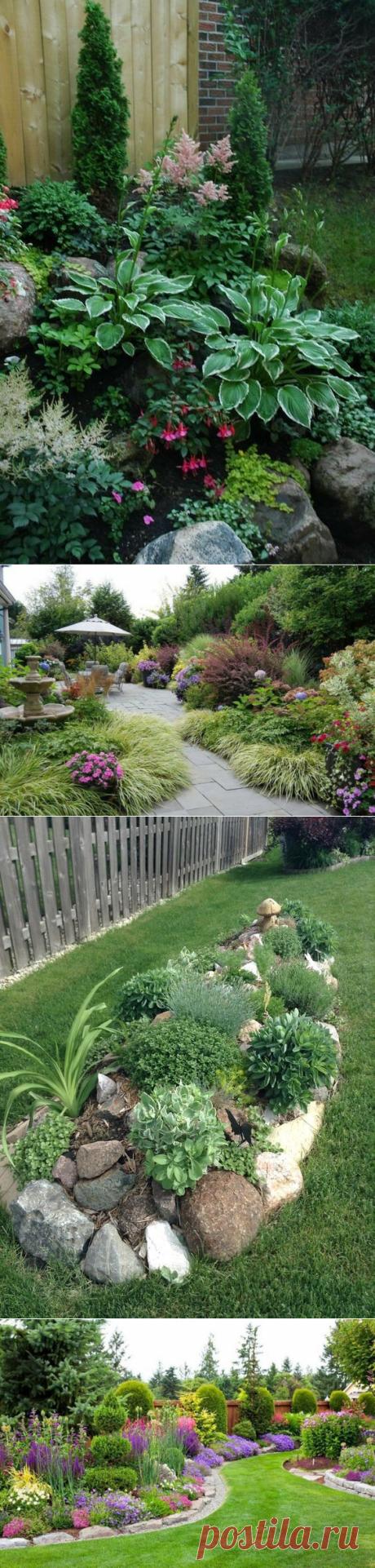 El diseño de paisaje de las partes de jardín y patio
