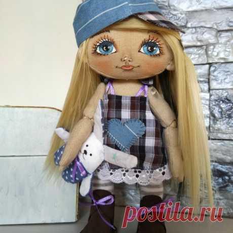 Кукла интерьерная текстильная ручной работы