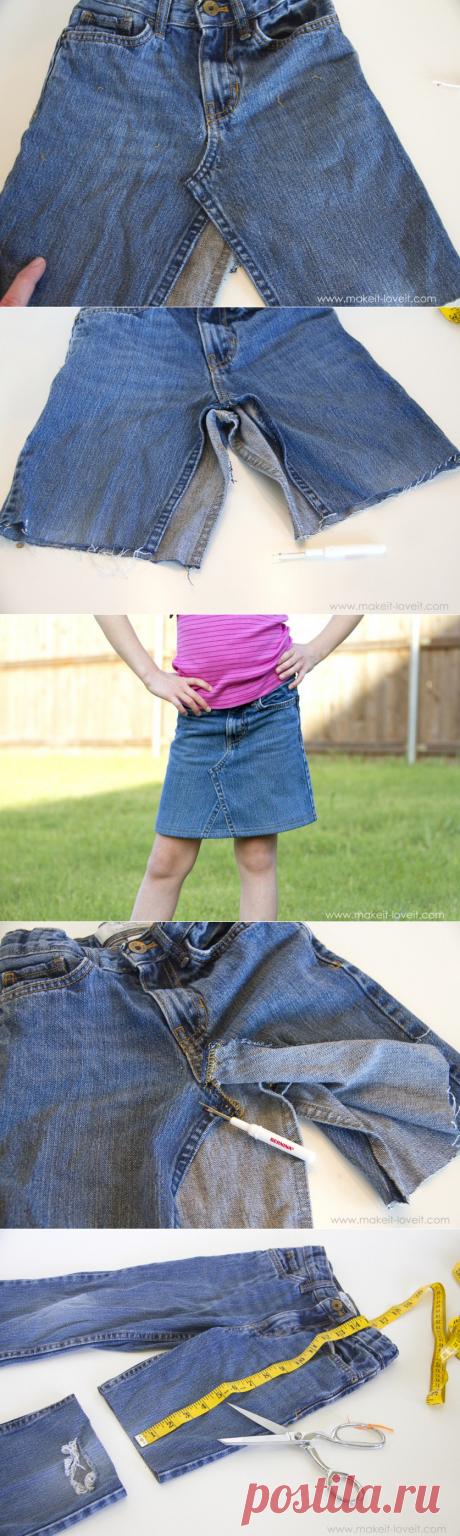 Мастер-класс: как сшить юбку из джинсов — Сделай сам, идеи для творчества - DIY Ideas