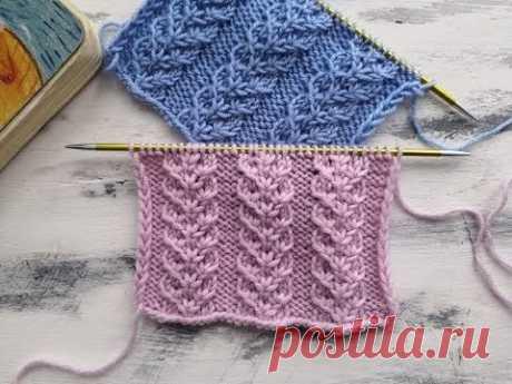 Рельефный  узор спицами для вязания шапок, свитеров, кардиганов, джемперов
