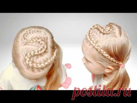 Быстрая прическа на длинные волосы | Прически для девочек - YouTube