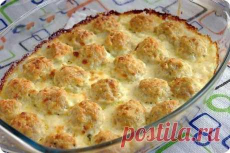 Нежные куриные шарики в сырно-сливочном соусе — Sloosh – кулинарные рецепты