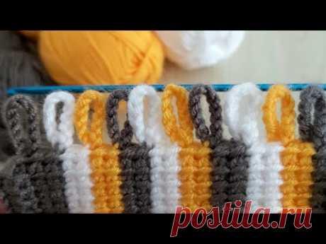 Super Easy Crochet Tunisian - Çook Guzel Tunus İşi Yelek Battaniye Örgü Modeli