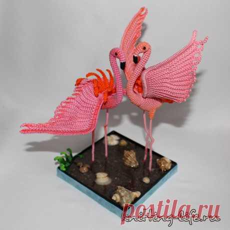 Розовые фламинго Фламинго. Стихотворение про розовых фламинго и их танец любви. Игрушка связана крючком. #фламинго #крючок #игрушка #вязание #вязанаяжизнь #вязанаяигрушка #вязаныйфламинго #розовыйфламинго #амигуруми #амигурумифламинго