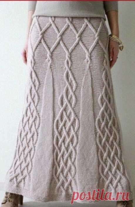 Вяжем юбку спицами Вяжем юбку спицами. Схема вязания юбки спицами