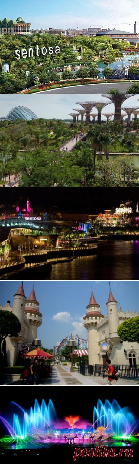 """Остров Сентоза – это один из самых известных островов Сингапура, к тому же это еще и фешенебельный курорт, парк развлечений и аттракционов для всех возрастов. Помимо захватывающих аттракционов, таких как Вулканоленд, здесь расположено много других интересных мест: крупнейший в Юго-Восточной Азии океанариум – """"Подводный Мир""""; сады """"Хау Пар Вилла Тайгер Балм"""" – сотни статуй героев древней китайской мифологии и легенд ожили с помощью электронных устройств; культурно-исторический тематический парк """""""
