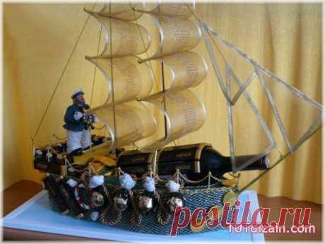 Украшение праздника. Подарочный корабль из конфет своими руками (фото, мастер-класс)