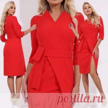 Классическое офисное платье из костюмной ткани купить недорого
