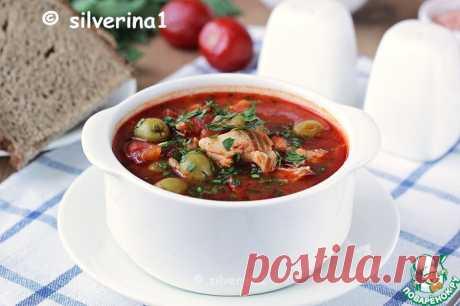 Томатный суп с рыбой и оливками Кулинарный рецепт