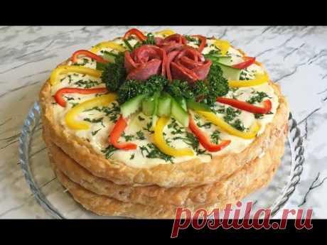 ПРАЗДНИЧНЫЙ ЗАКУСОЧНЫЙ ТОРТ С КОЛБАСОЙ / Торт из Колбасы / Праздничный Рецепт / Sausage Cake