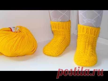 Мастер класс по вязанию детских носочков крючком. DIY socks crochet