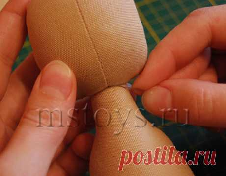 Master class: how to sew the head to a doll:: MSToys.ru