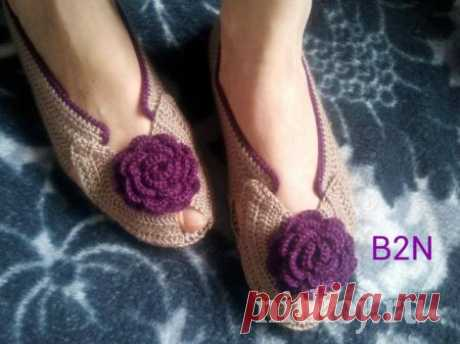 Beautiful shoes hook » The Thread - knitted things for your house, knitting by a hook, knitting by spokes, schemes of knitting