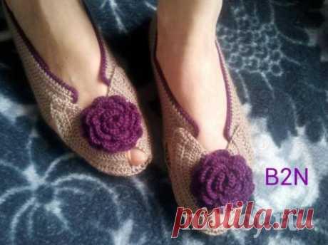 Красивые туфельки крючком » Ниткой - вязаные вещи для вашего дома, вязание крючком, вязание спицами, схемы вязания