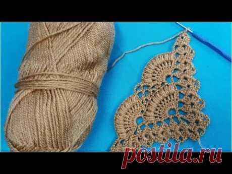 Crochet Mussel Shell Wrap Pattern