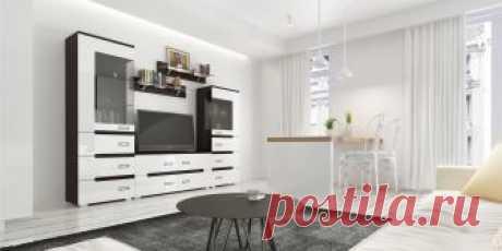 Стенка для гостиной ВИГО Горизонт купить в Екатеринбурге | Интернет-магазин VOBOX