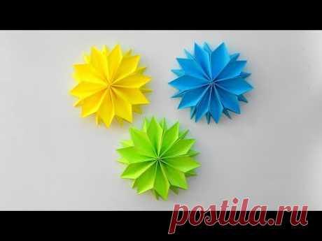 Цветы из бумаги к 8 марта Детская поделка оригами к празднику