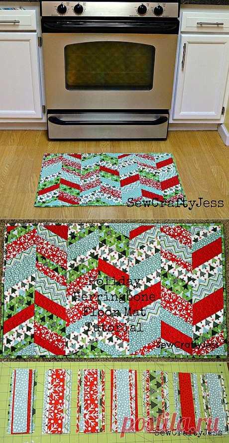 Фото мастер-класс: Сшить симпатичный коврик из лоскутов - Шьем легко и красиво