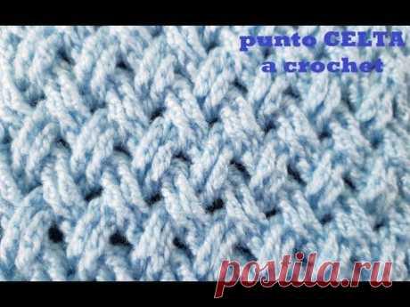 punto celta a crochet - tutorial - tejido a ganchillo - paso a paso, punto entrecruzado a crochet