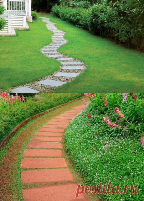 4 лучших варианта оформления садовых тропинок - Building online